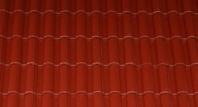 Terrán Danubia Colorsystem tetőcserép bordó