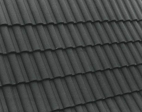 Terrán Danubia Colorsystem tetőcserép antracit