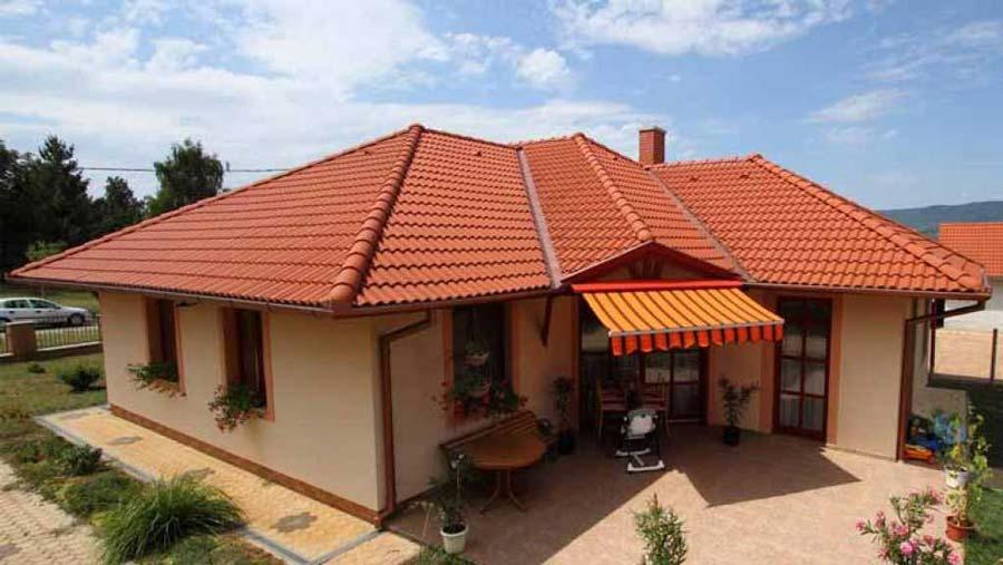 Terrán Danubia Colorsystem tetőcserép téglavörös