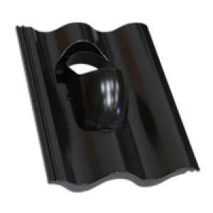 Terrán műanyag átvezető alapcserép Synus tetőcseréphez